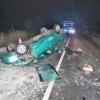 Mladík bez řidičského oprávnění havaroval u Bludova