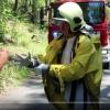 VIDEO: Hasiči na Šumpersku likvidovali uniklou nebezpečnou látku