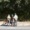 FOTO: Policisté v Šumperku kontrolovali motorkáře