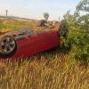 Opilý řidič se převrátil s vozidlem na střechu