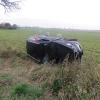 Řidič v havarovaném autě nechal odcizenou dopravní značku