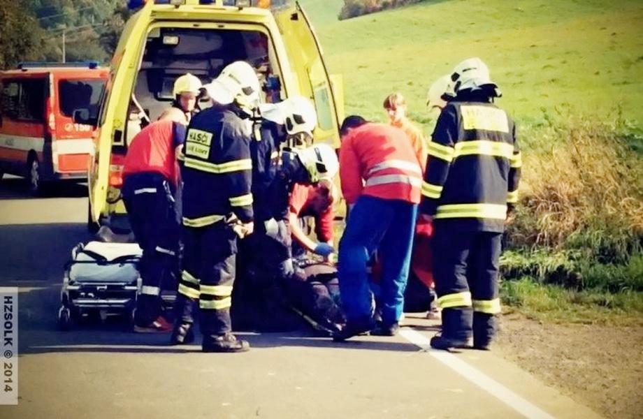 zásah hasičů a zdravotníků v Maršíkově