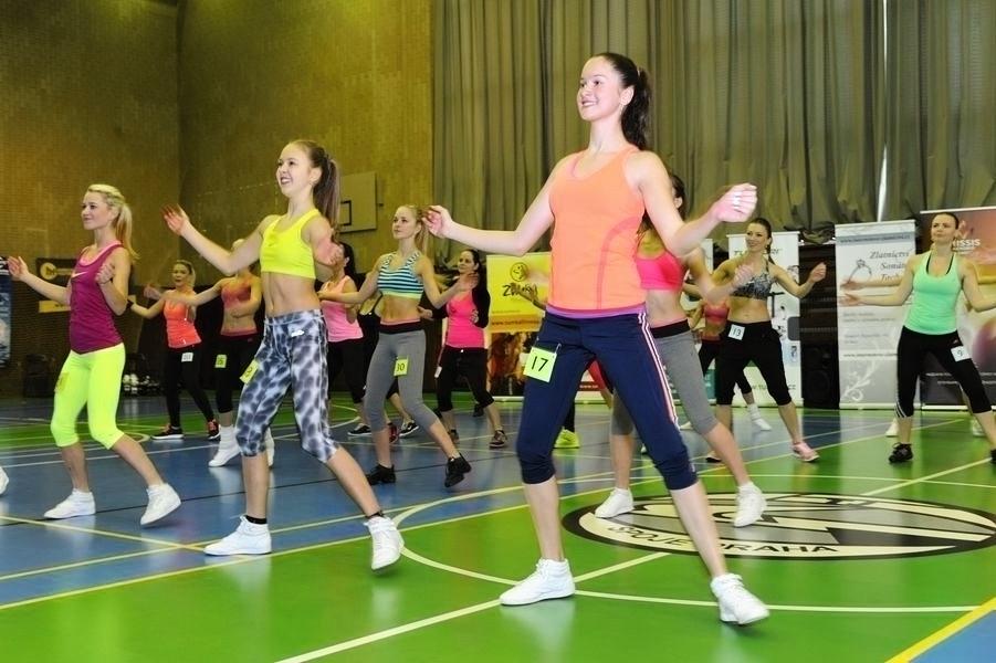 první disciplina - aerobik a zumba foto: Zbyněk Čejka