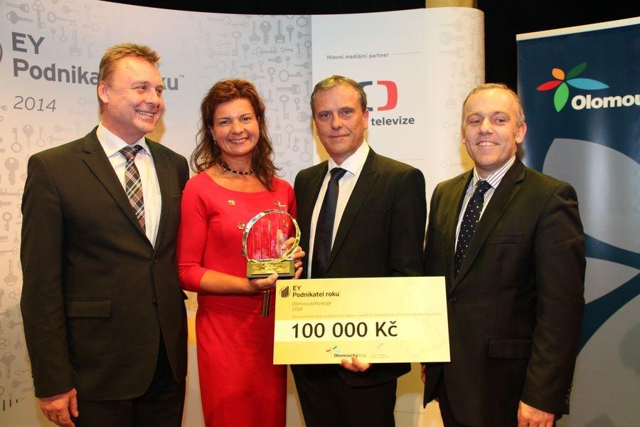 Slavnostní vyhlášení soutěže EY Podnikatel Olomouckého kraje zdroj foto:Ok