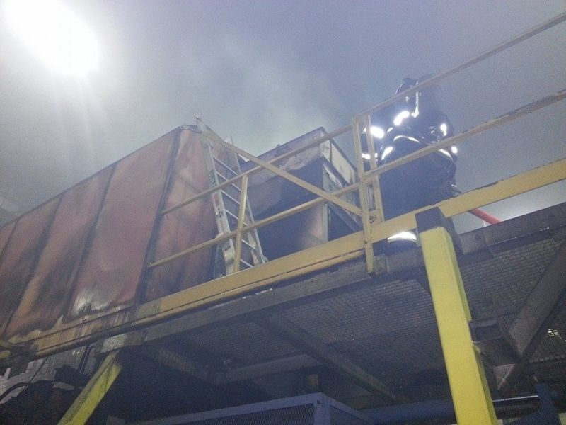 Požár ve slevárně v Mohelnici zdroj foto:HZS Ok