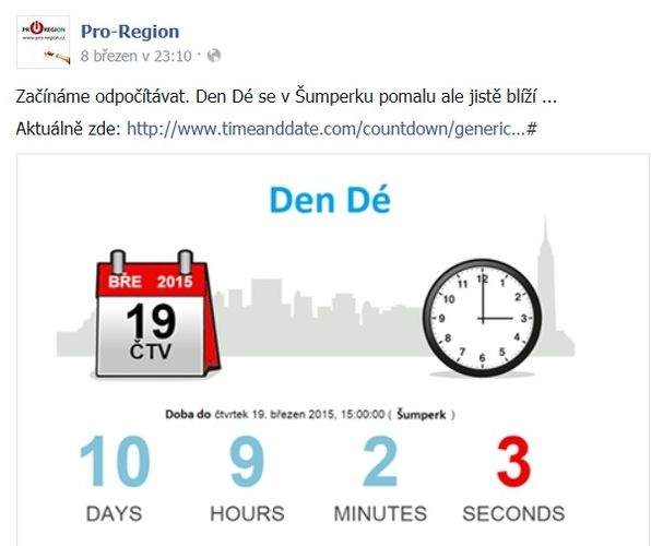 web opozice zdroj: FB Pro - Region