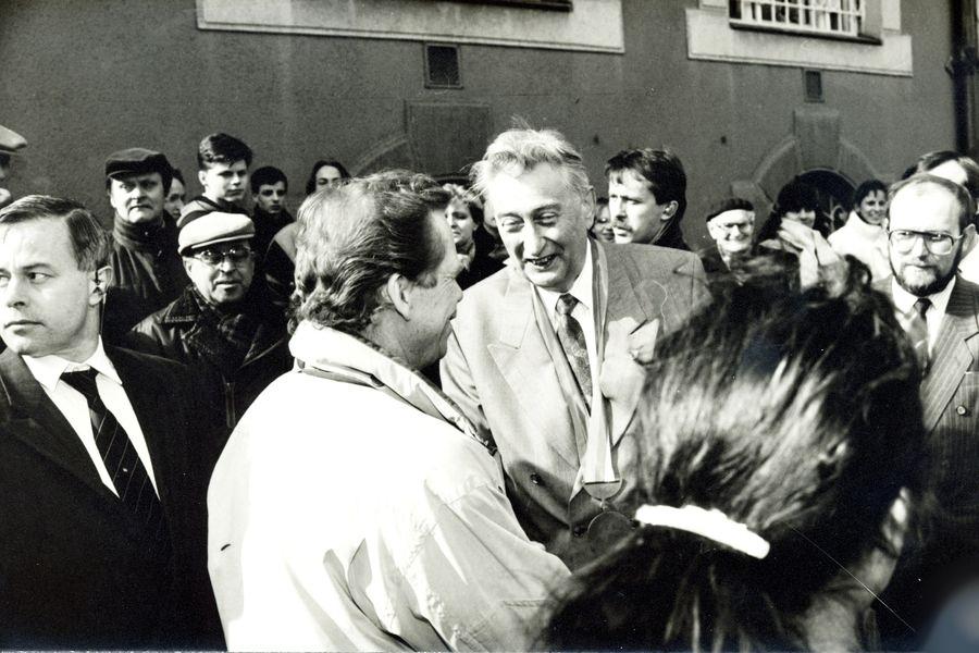 prezident Václav Havel v Šumperku zdroj foto: mus