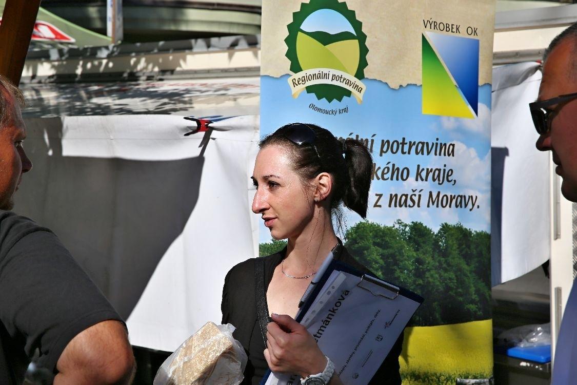 organizátorka trhů Lucie Hošková foto: sumpersko.net