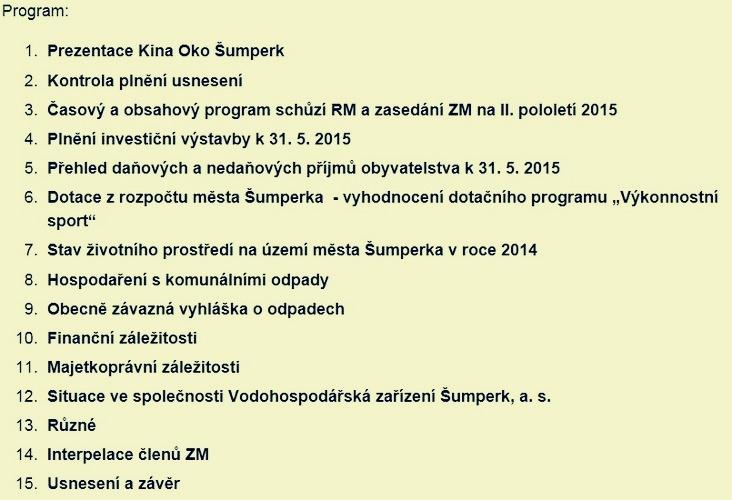 program jednání ZM zdroj:mus