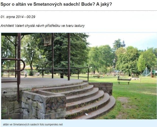 o problematice altánu jsme informovali zdroj: sumpersko.net