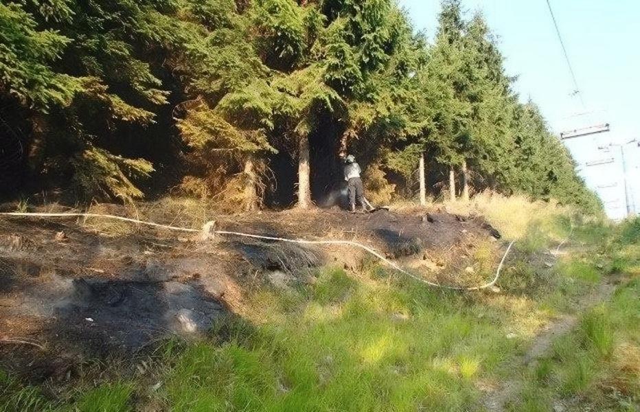 Kouty na Desnou - likvidace lesního požáru zdroj foto: HZS Ok