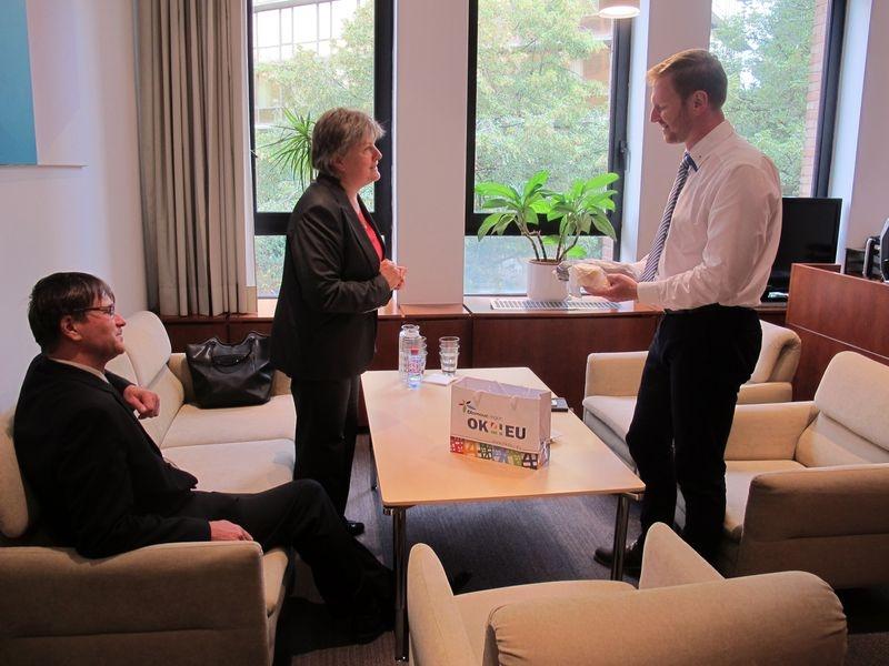 pracovní schůzka v Bruselu foto: Mi. Vráželová