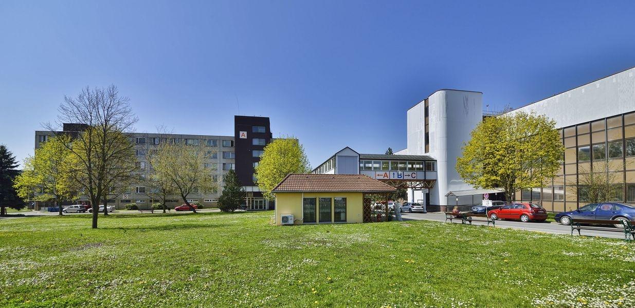 místo kde bude stát nové pracoviště magnetické rezonance foto: Nemocnice Šumperk