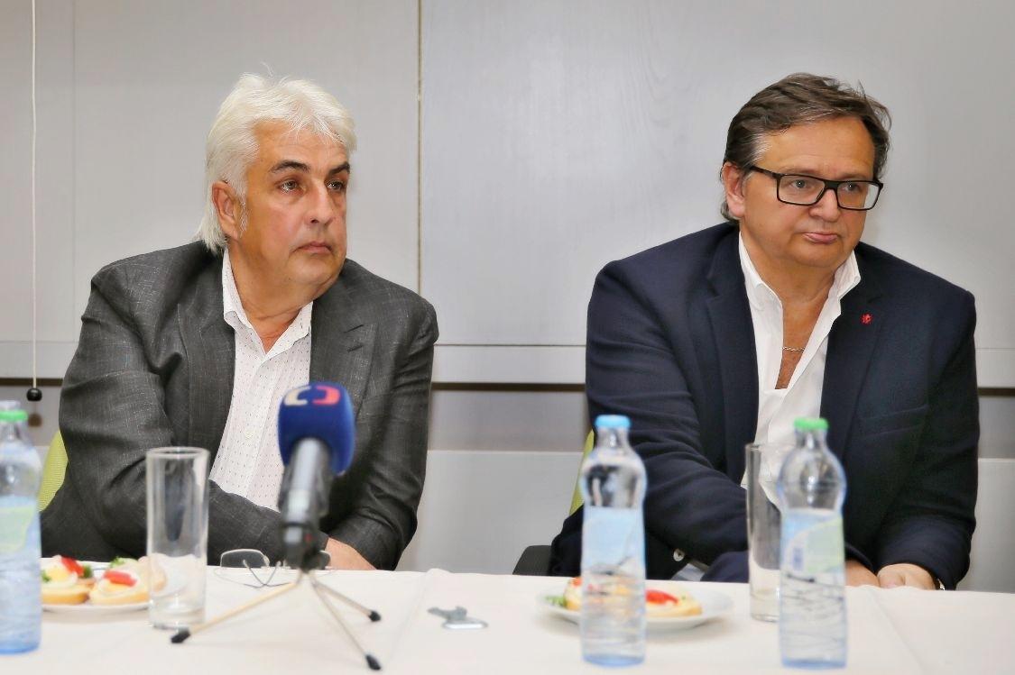 tisková konference Nemocnice Šumperk - MUDr. Martin Polach, MUDr. Radan Volnohradský foto: sumpersko.net