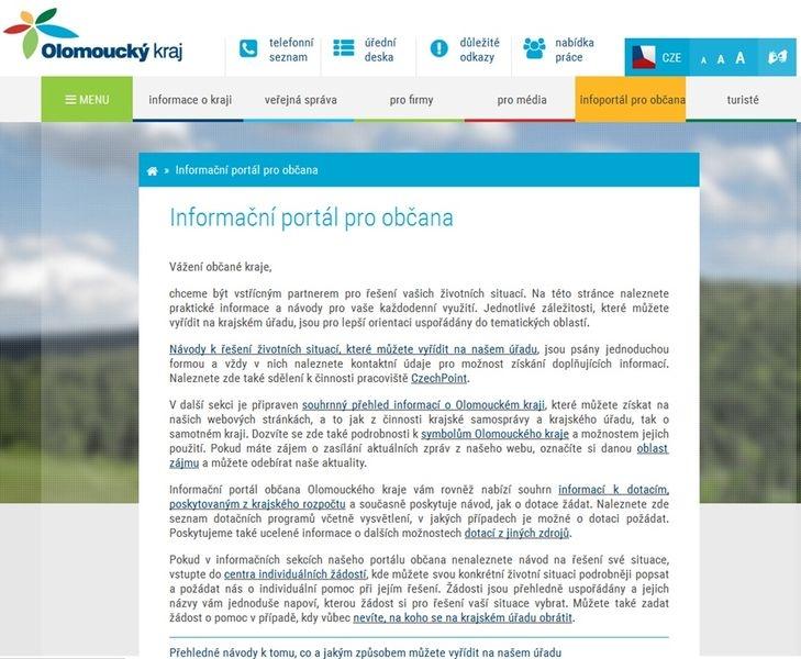 informační portál - náhled zdroj: Olk