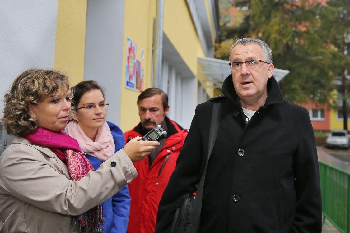 Šumperk - MŠ Evaldova - slavností předání - místostarosta Tomáš Spurný foto: sumpersko.net