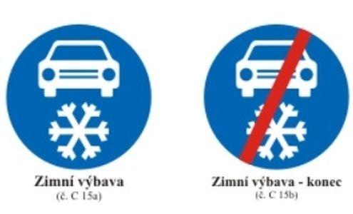 dopravní značka Zimní výbava zdroj:MD