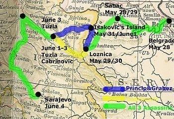 trasa atentátníků
