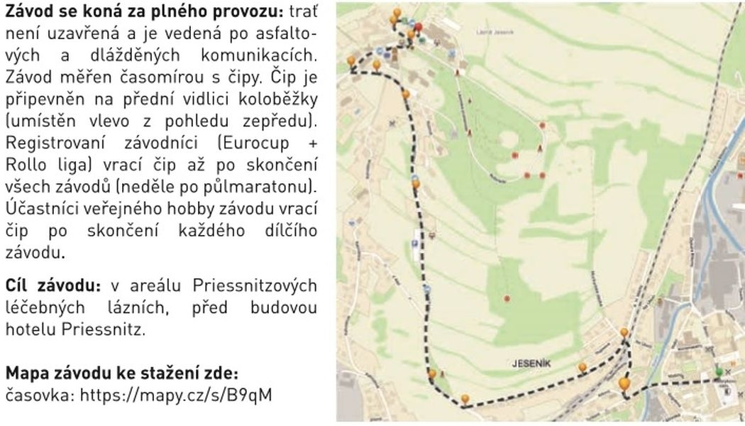 trasa Kostka Cup Jeseník zdroj: V. Janků
