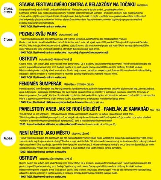 Šumperk Dny Architektury - program