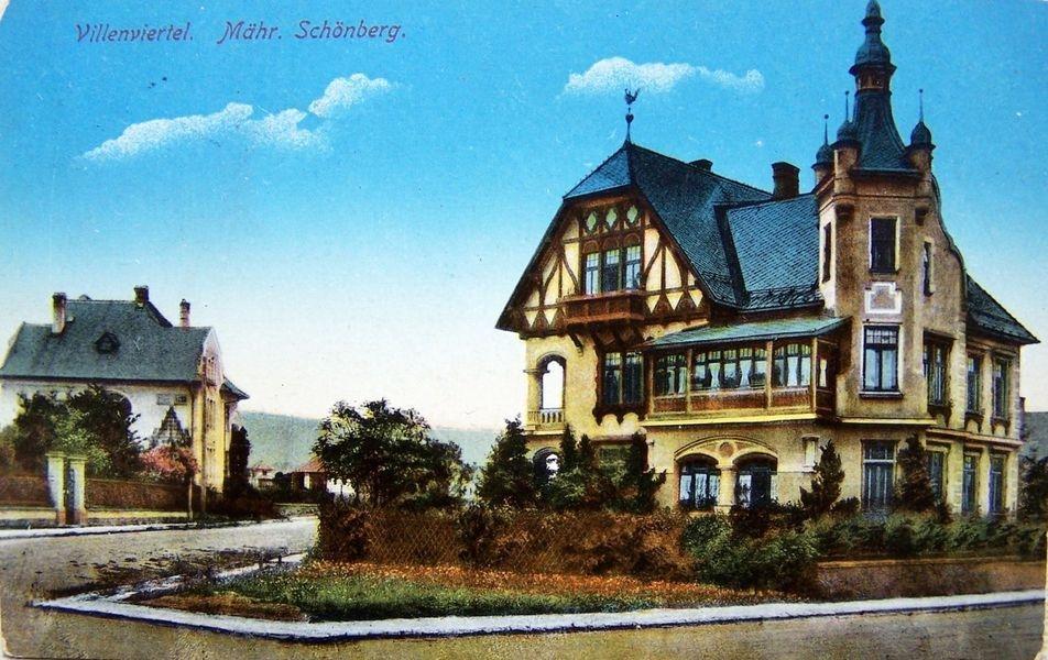 Šumperk - vila v Husitské ulici zdroj foto: mus - vyd. A. Schuster (asi 1910)