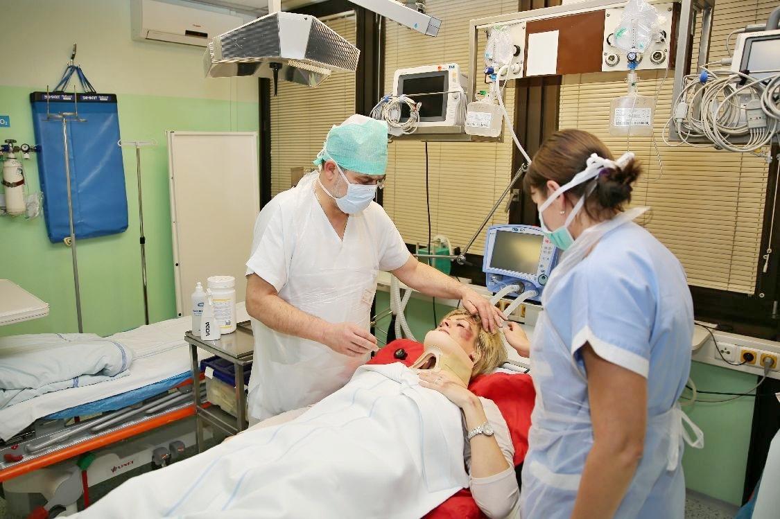 ošetření figuntky na urgentním příjmu; foto: šumpersko.net