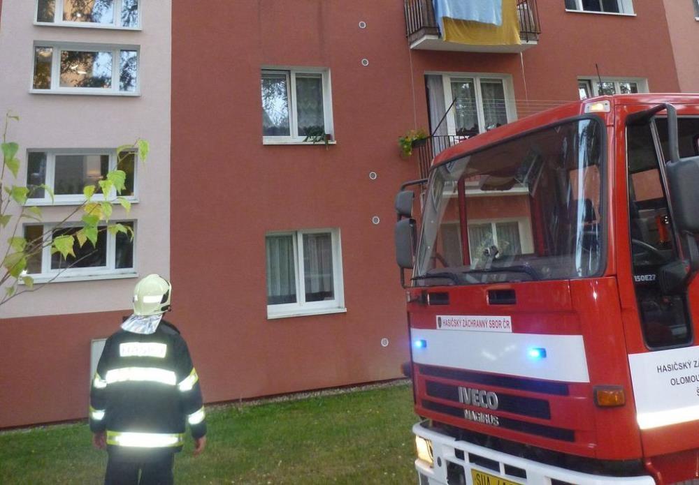Šumperk - hlásič požáru byl při události rozhodující zdroj foto: HZS Olk