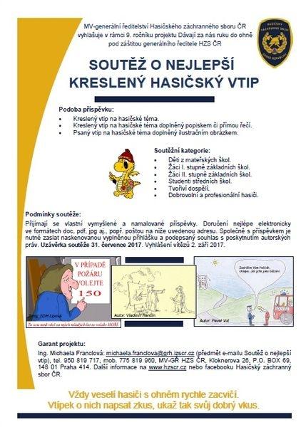 informace o soutěži zdroj: HZS ČR