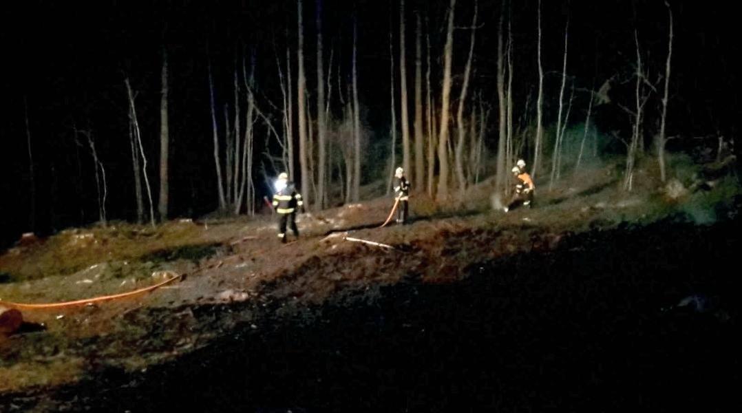 zásah hasičů Hrochov zdroj foto: HZS Olk