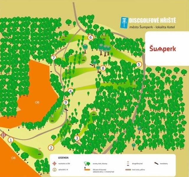 discgolfovém hřište v šumperském Kotli zdroj: mus