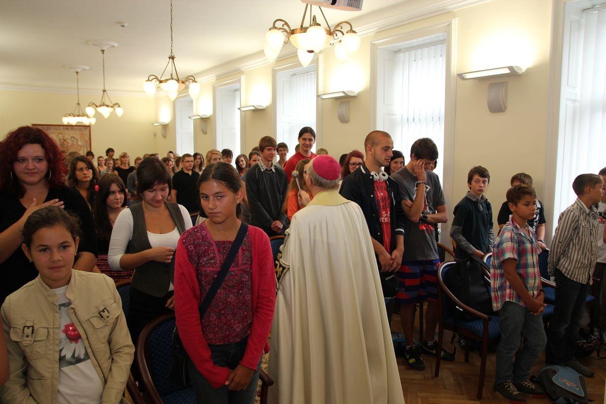 Olomouc - zahájení školního roku CGNŘ foto:sumpersko.net