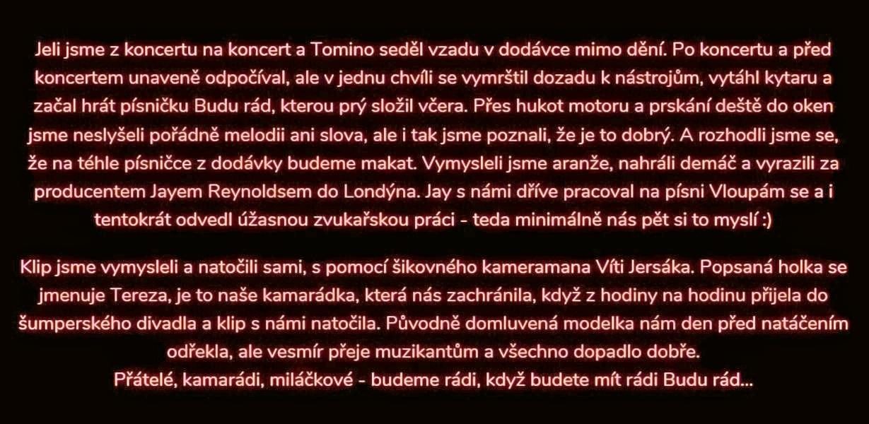 o vzniku singlu Budu rád zdroj: O5 a Radeček
