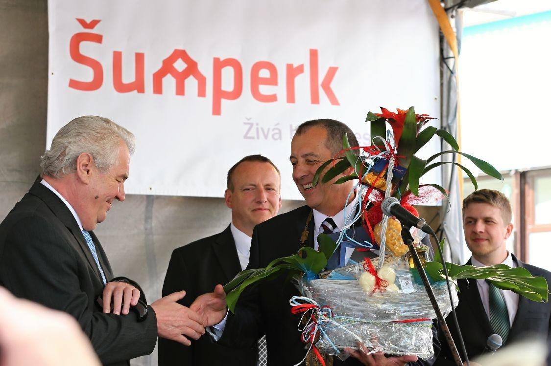 prezident Miloš Zeman při návštěvě v Šumperku foto: archiv šumpersko.net