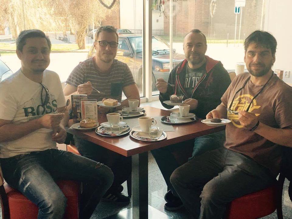 kapela Wohnout před koncertem ve Frýdku Místku zdroj: FB W