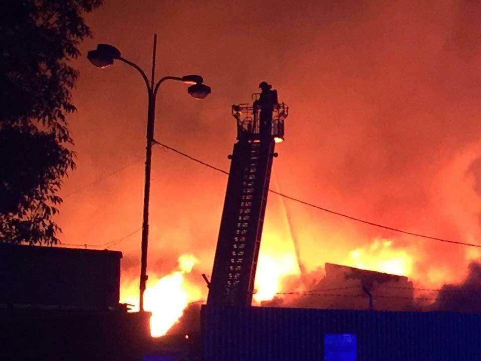 Olomouc - likvidace požáru 25. června 2016 zdroj foto: HZS Olk