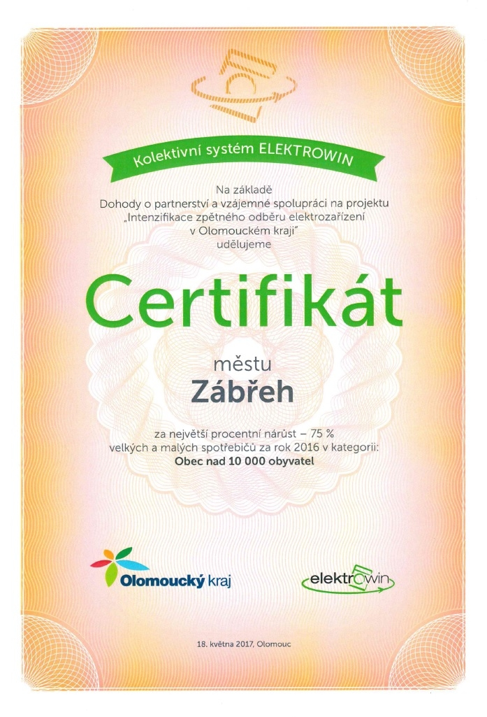 Certifikát zdroj:muz