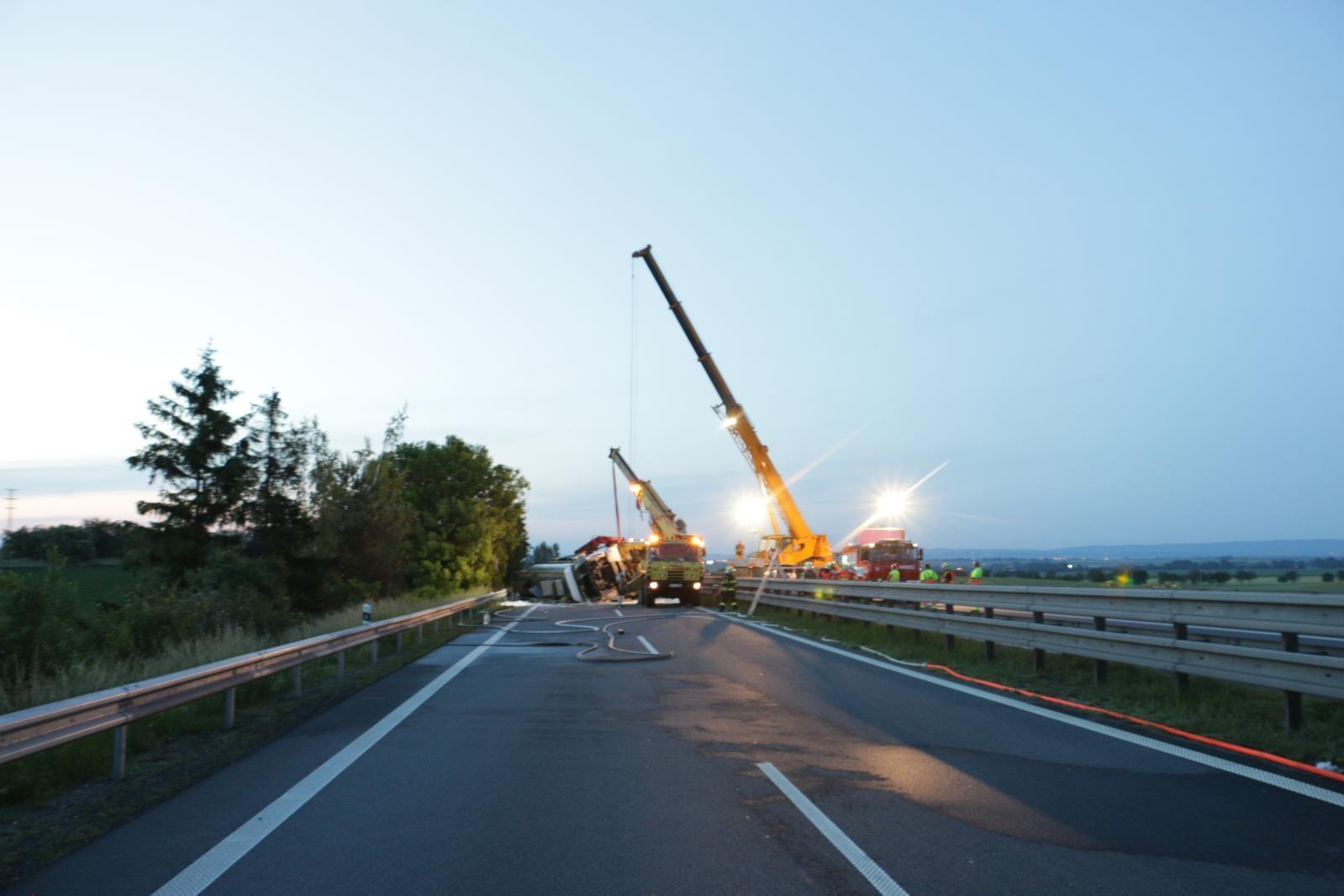 DN D 46 ve směru od Olšan u Prostějova zdroj foto: HZS Olk