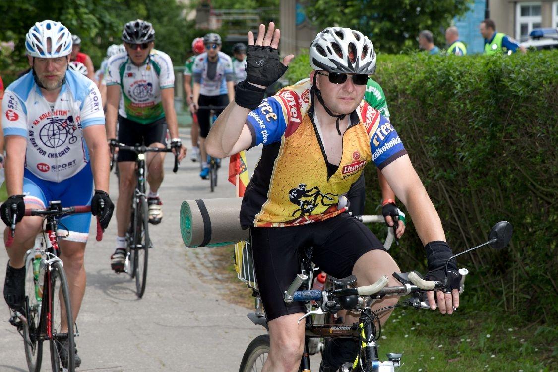 Cyklotour Na kole dětem Josefa Zimovčáka zavítala do Šumperka foto: šumpersko.net - M. Jeřábek