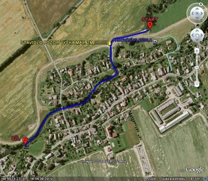 trasa závodu zdroj: stránky závodu