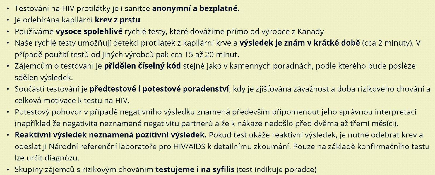 mobilní HIV testování