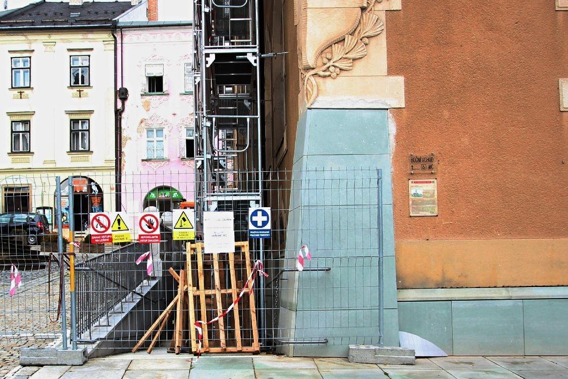 Śumperk - rekonstrukce historické budovy radnice foto: šumpersko.net