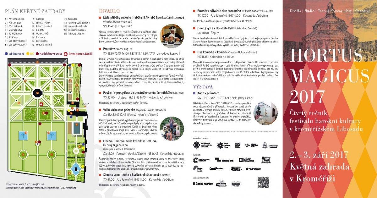 Barokní festival Hortus Magicus: V Květné zahradě se můžete těšit na opery, divadlo i tančící koně zdroj: Olk
