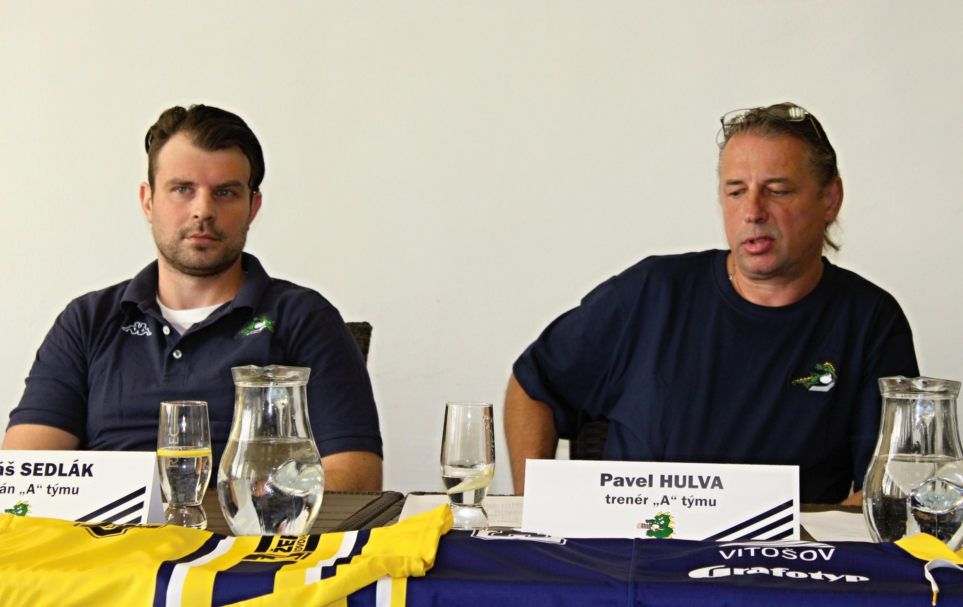 tisková konference hokejového klubu zdro foto: Draci Šumperk