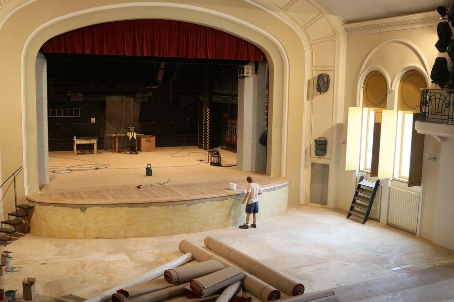Divadlo Šumperk - rekonstrukce divadelního sálu zdroj foto: DŠ