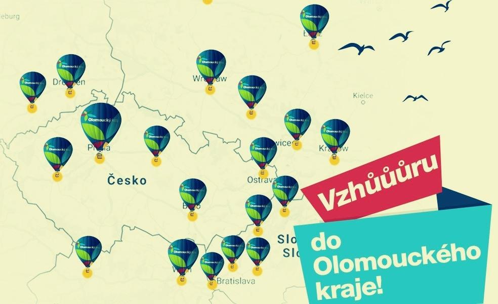 zastávky Roadshow Vzhůru do Olomouckého kraje zdroj: Olk