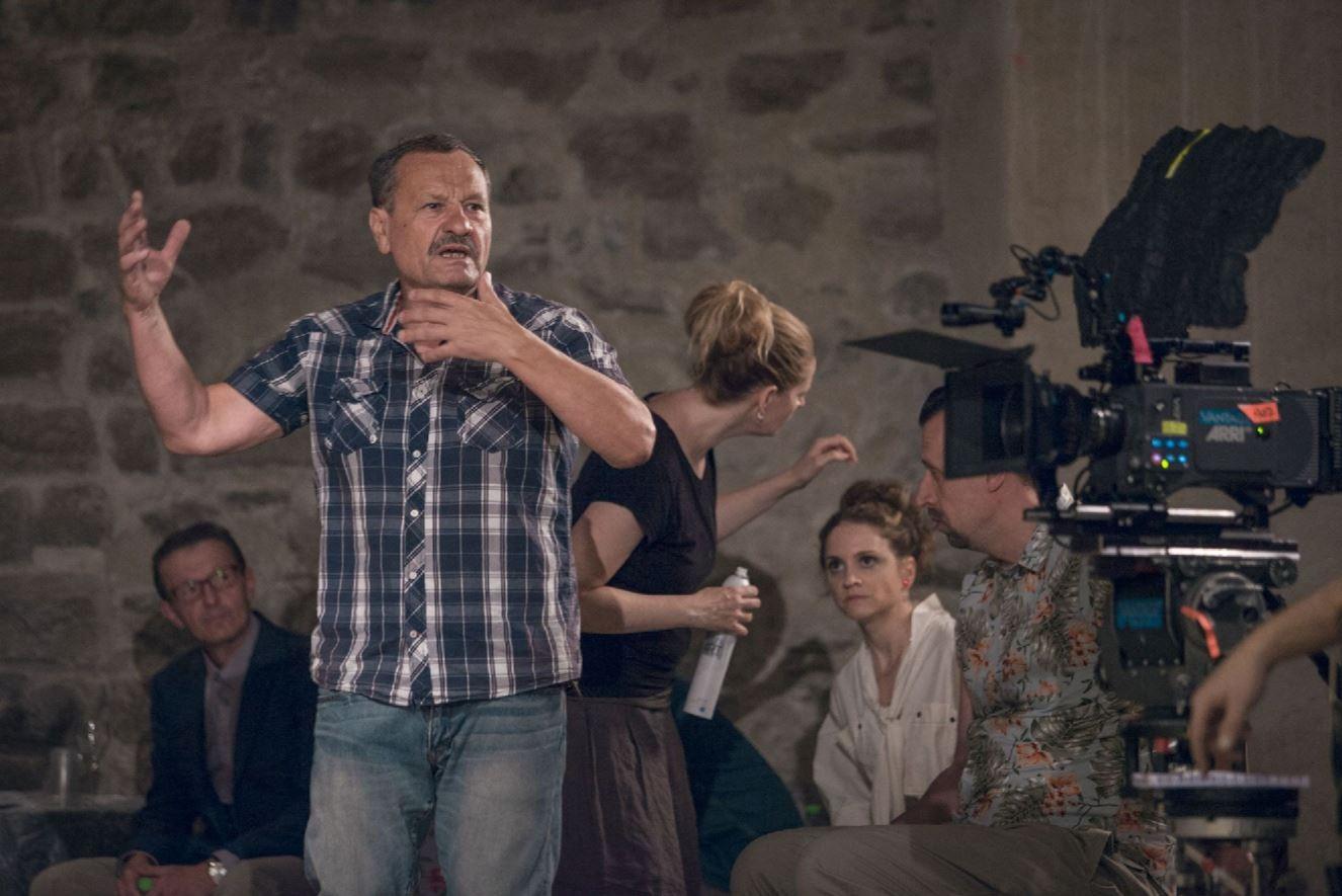 Miroslav Krobot při natáčení filmu Kvarteto zdroj foto: z.k.