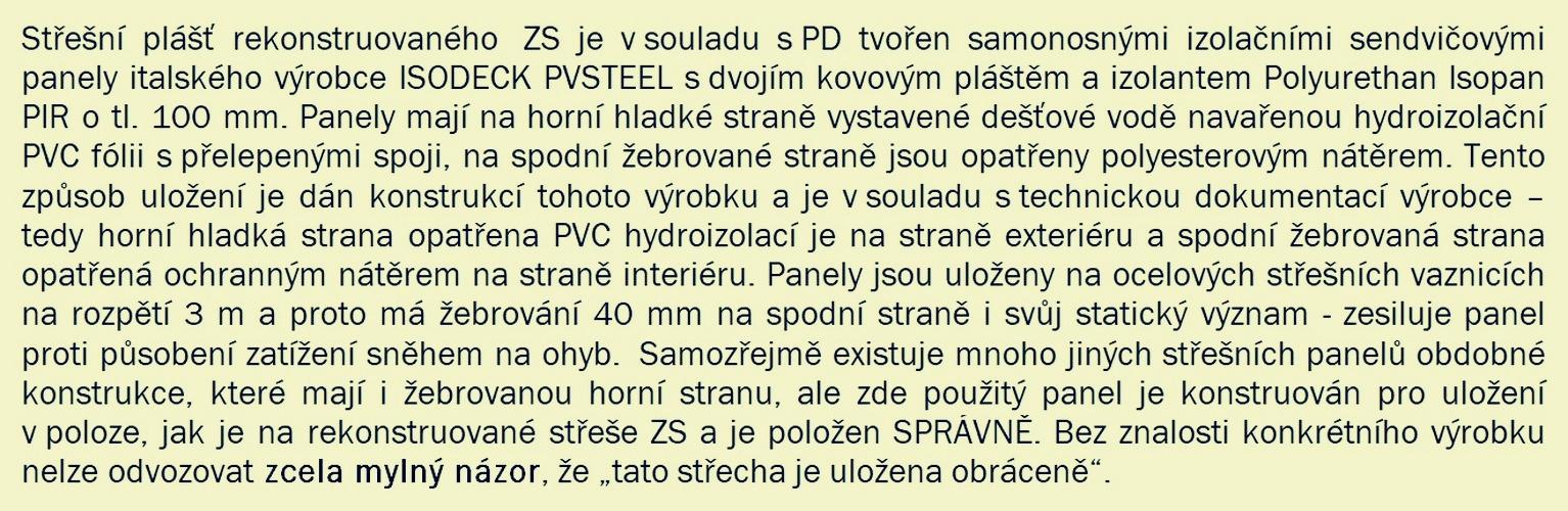 Šumperk - rekonstrukce ZS - stanovisko Ing. Vágnera, který prováděl stavební dozor zdroj: mus - PMŠ