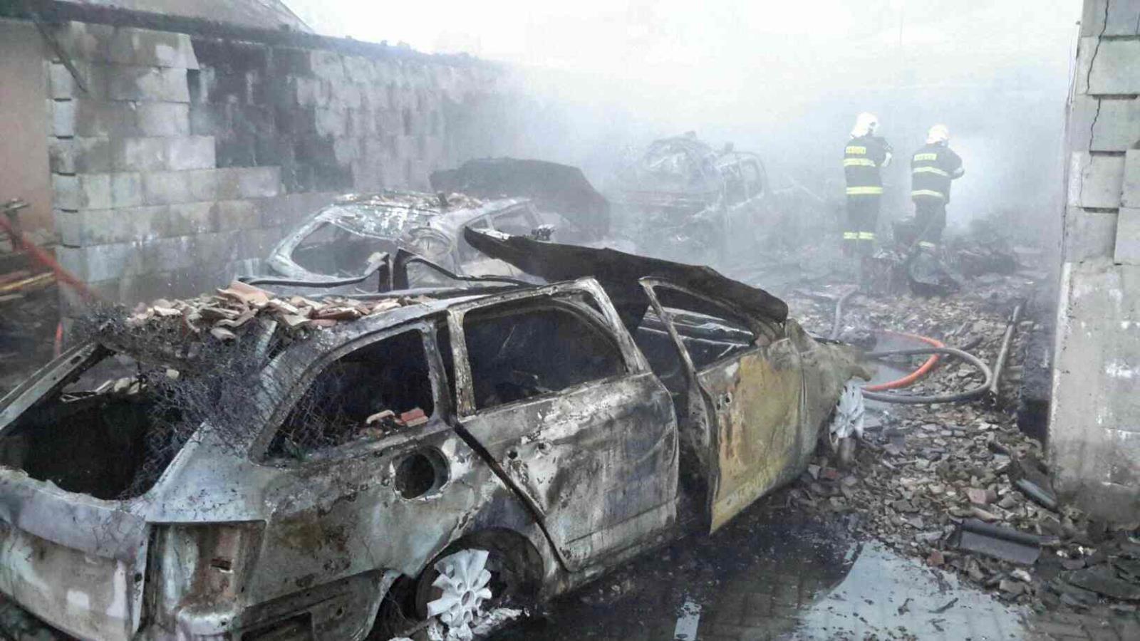 Kosov likvidace požáru zdroj foto: HZS Olk