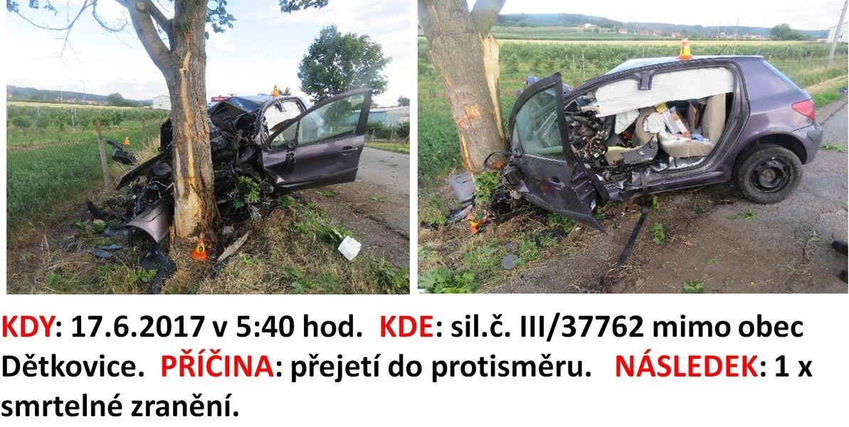 DN na území kraje zdroj foto: PČR