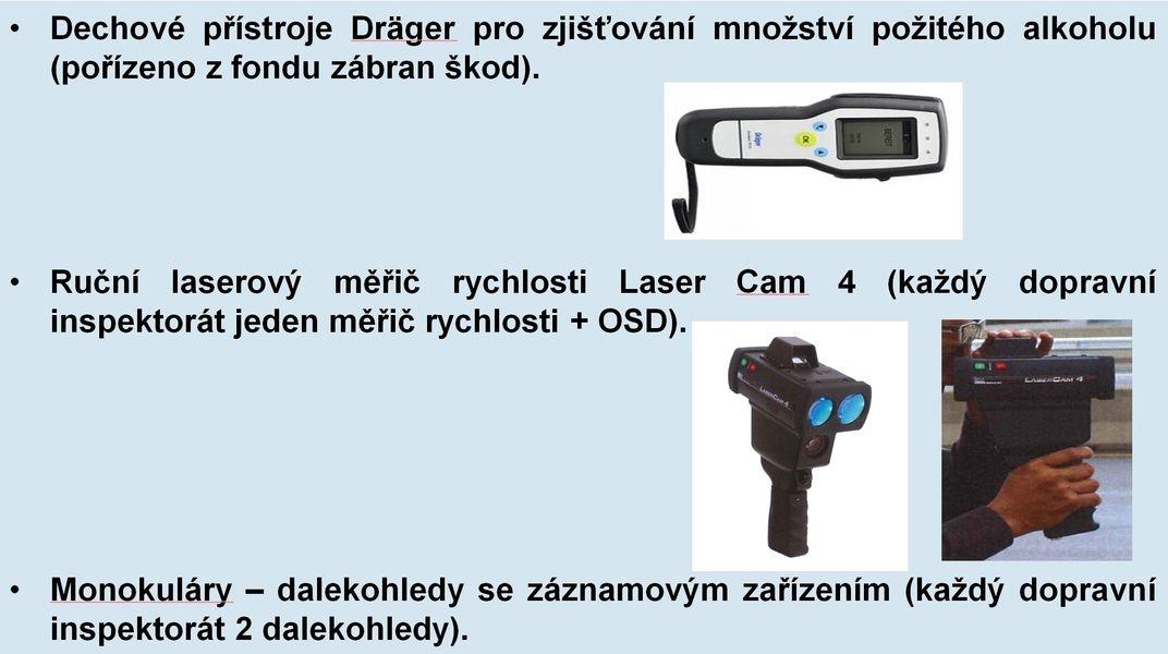DP - vybavení zdroj foto: PČR